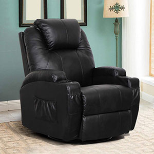 Esright Massage Recliner Chair Heated RU Leather