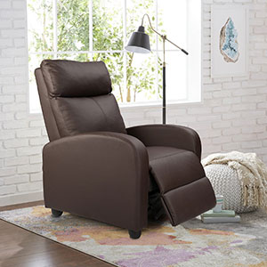 Homall Single Recliner Chair Padded Seat PU Leather