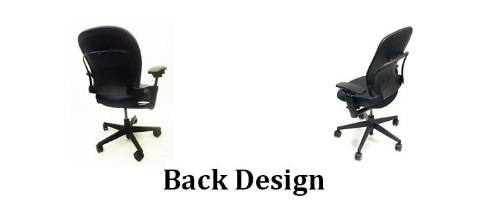 Back design of Steelcase leap V1 and V2
